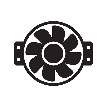 Cooling fan icons. Cool fans vector symbols, electrical air industry signs, electric wind climate industrial propellers with blades Foto de archivo - 135454726