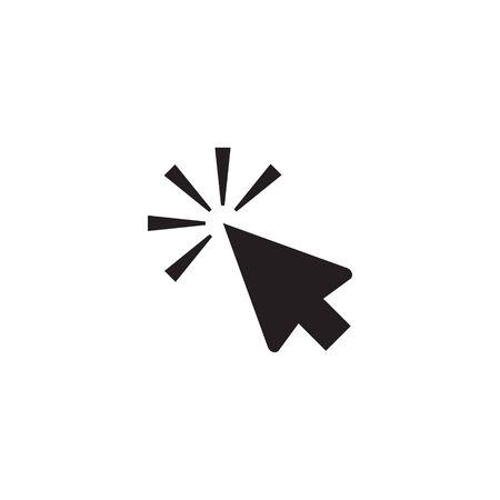 Mouse cursor vector icon, clicking cursor pointer icon vector