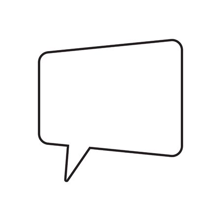 Speech bubble, speech ball, chat bubble line art vector icon for apps and websites