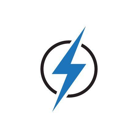 Lightning electric power icon vector Ilustração