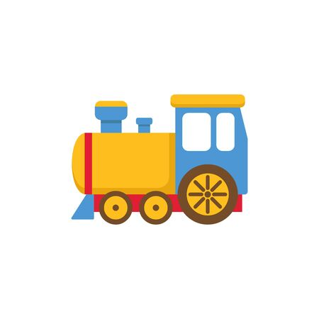 Toy train cartoon vector illustration.