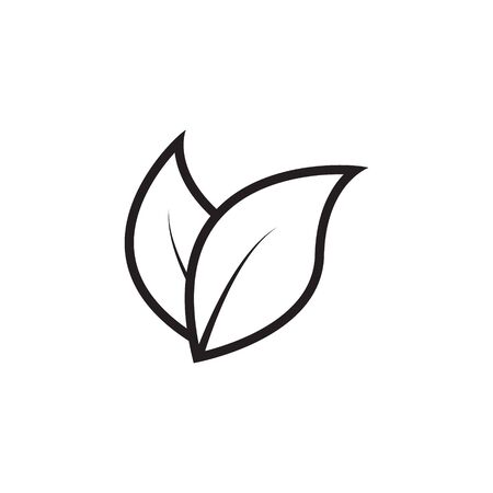 Leaves icon. Vector illustration isolated on white background.