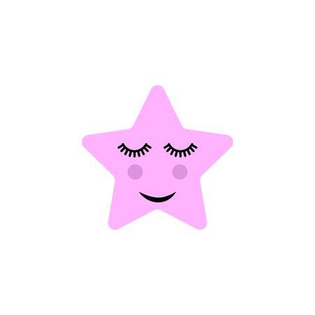 Cute star, cartoon vector illustration.
