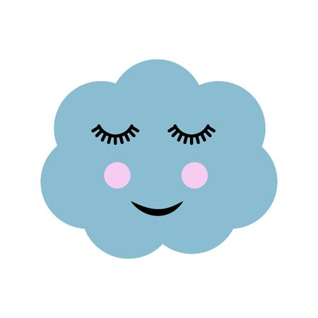 Cute cloud, cartoon vector Illustration. 일러스트