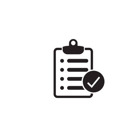 Checklist icon flat style isolated on background. Checklist sign symbol for web site and app design. 일러스트