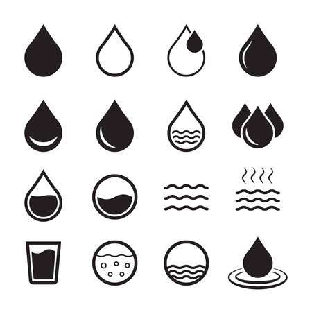 Water icon, drop icon. Design vector water icon symbol