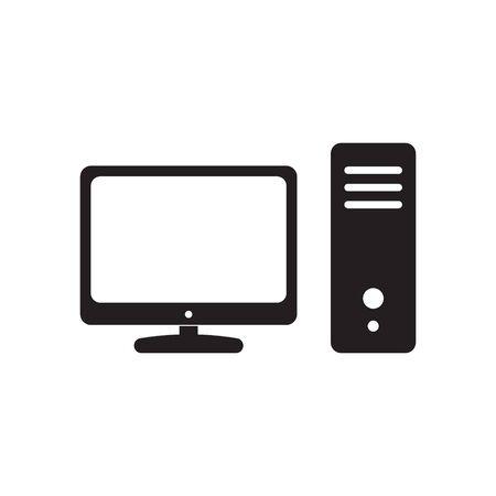Computer desktop vector icon, pc symbol.