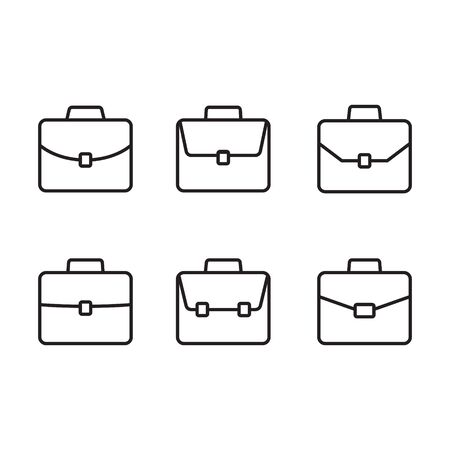 Briefcase line icon, linear style pictogram isolated on white. Suitcase, portfolio symbol.
