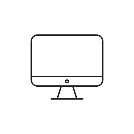 Monitor icon, modern tv icon