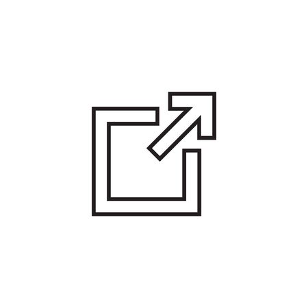 External link icon, vector illustration