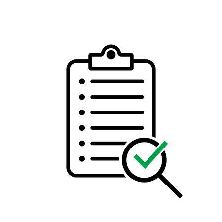 Search documents icon. Vector illustration for web site, mobile application. Ilustração