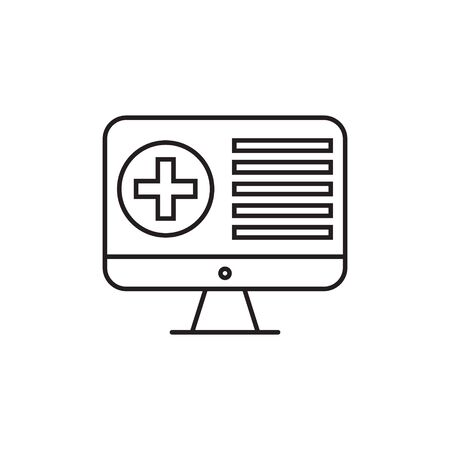 Medical technology, monitor icon. Element of medical technology thin line icon 写真素材 - 143425396