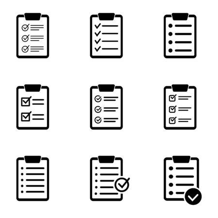 Zwischenablage-Symbol. Checklistenzeichensymbol für Website- und App-Design.