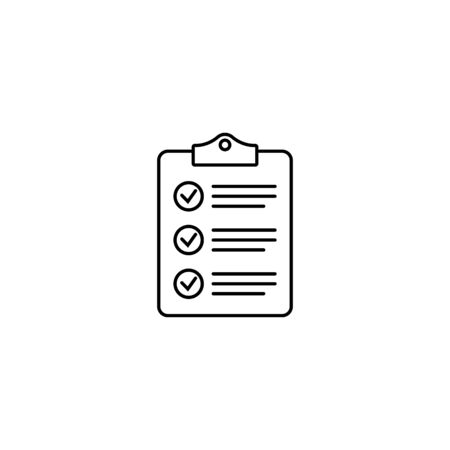 Clipboard with checklist icon, symbol for web site and app design. Vector illstration.