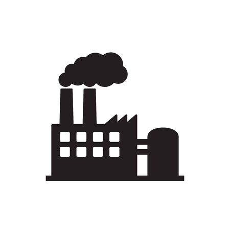 Vector illustration of industry icon, Factory icon.