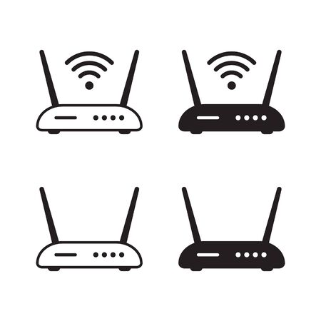 Router icon. Router related signal icon isolated