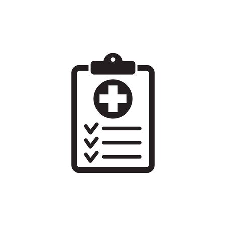 Medical record icon, medical report icon, vector isolated