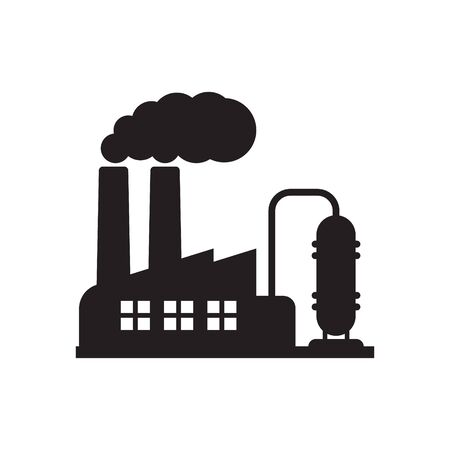 Factory chimney icon, industry icon 向量圖像