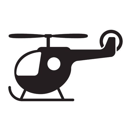 Cartoon toy helicopter vector icon