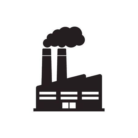 Factory icon. Vector illustration of industry icon.