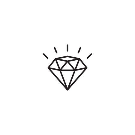 Diamond icon vector. Crystal sign isolated.