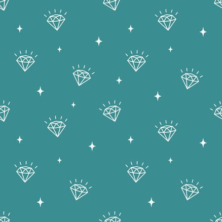 Vector pattern with diamonds. Seamless pattern can be used for wallpaper, pattern fills, surface textures web page background and fabrics.