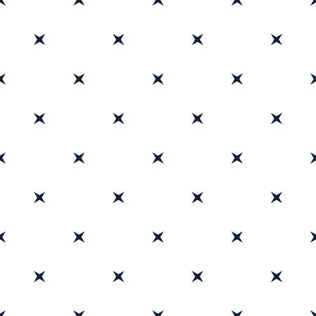Seamless Star Pattern. Geometric ornamental vector pattern. Seamless design texture. Black and white vector illustration. 向量圖像