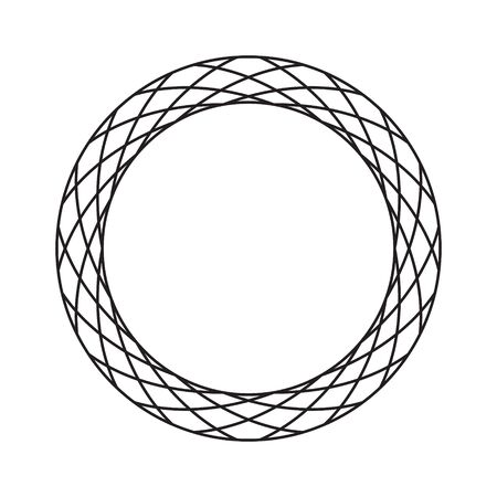Circular, radial abstract geometric frame. Black and white radial vector frame. 向量圖像