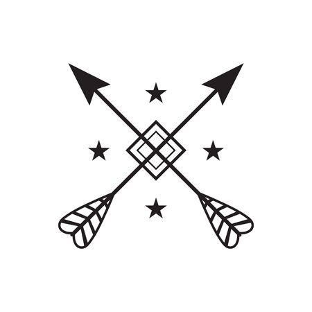 Cross arrows icon. vector illustration