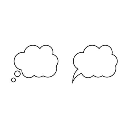 Speech or think bubble, empty communication cloud. Vector design element. Ilustrace