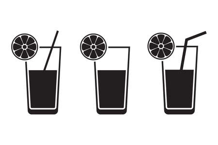 Juice flat vector icon. Cocktail flat vector icon