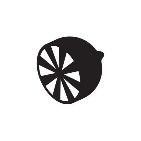 Lemon icon illustration isolated vector sign
