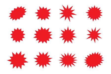 Set of comic splash, explosion, burst, bang, blast, shine, star vector for sale labels, stickers.