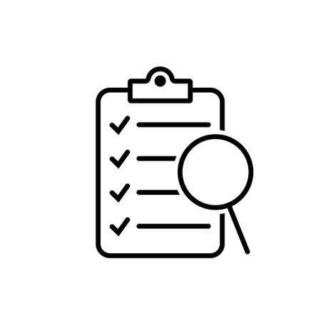 Magnifier assessment checklist icon 向量圖像
