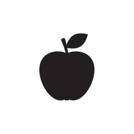 Apple icon, isolated vector symbol. Çizim