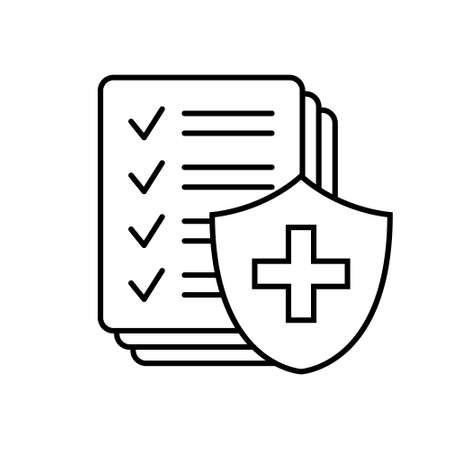 Medical insurance icon, Health insurance icon isolated on white background.