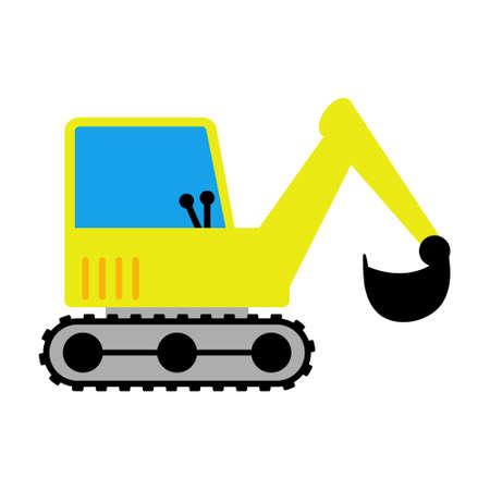 Excavator icon, Digger toy icon. Иллюстрация