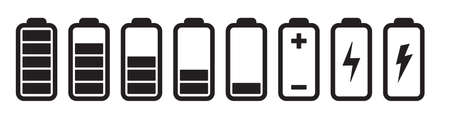 Battery charge icon. Smartphone electric power indicators. Vector illustration on white background