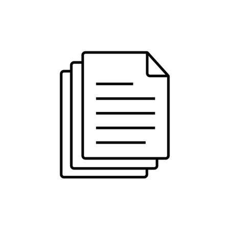 Document paper icon vector symbol design illustration