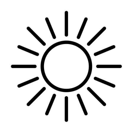 Sun Icon, Retro Sun Ray, Sun Burst Emblem, Sunshine Sunburst, Isolated Vector Illustration