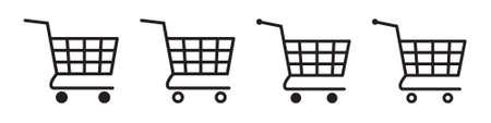 Shopping cart icon. Trolley icon. Иллюстрация