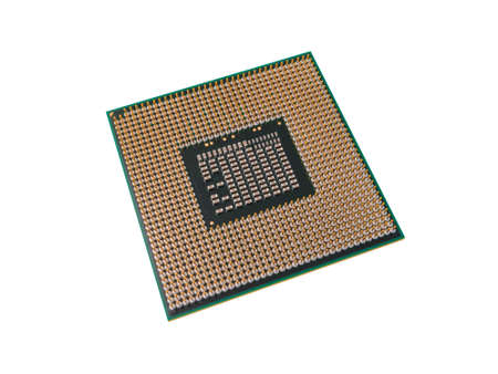 CPU for modern computer, isolated on white background