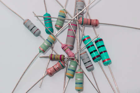Heap resistors with different resistance, electronic radio components