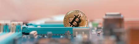 Cryptoindustry. Mining of digital money, bitcoin