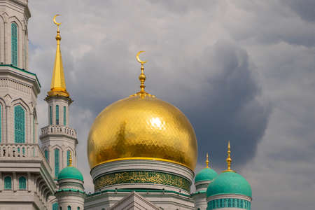 Main Cathedral Mosque of Moscow. One of the largest and highest mosques