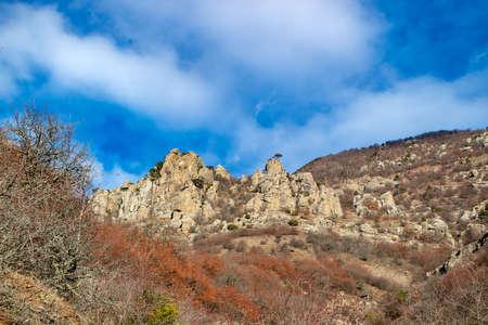 Demerdzhi Mountains, view of the valley of ghosts near Demerji. Alushta, Crimea