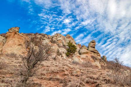 Summer mountain landscape in Southern Crimea, Alushta