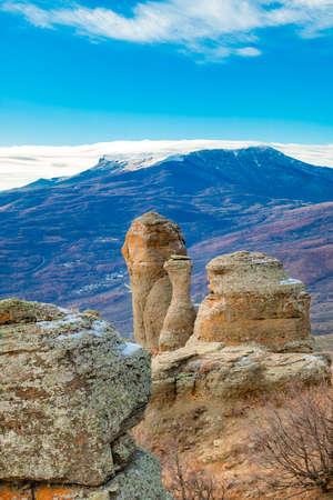 Mountain landscape in Southern Crimea, Alushta