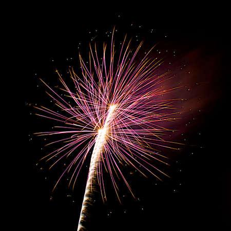 Fireworks of Orange and Purple