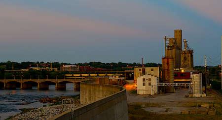 Ricmond, Virginia flood wall surrounding the James River.